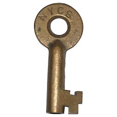 New York Central System Brass Switch Key