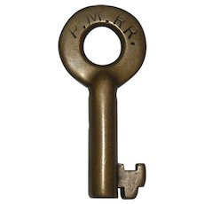 Pere Marquette Railroad Brass Switch Key