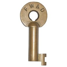 Fort Worth & Denver Brass Switch Key