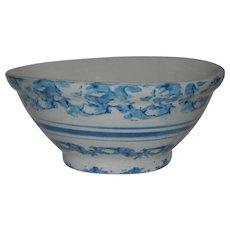 Blue & White Spongeware Bowl