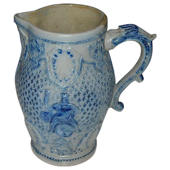 White's Utica 1800's Ornate Beer Pitcher