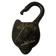 New York Central Railroad Moon Lock & Key
