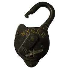 New York Central Railroad Moon Lock & Key