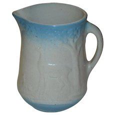 Blue & White Doe & Fawn Pitcher