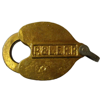 Pittsburgh & Lake Erie Slaymaker Brass Lock & Key