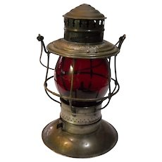 Chicago, Milwaukee  & St. Paul Railway Brass Top Lantern