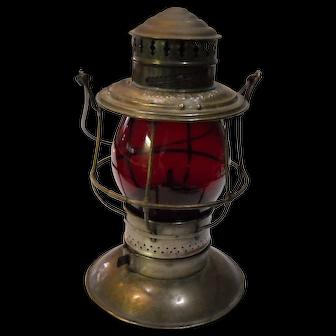 Chicago, Milwaukee  & St. Paul Railway Brass Top Lantern