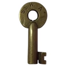 St. Louis & Southwestern Railway Brass Switch Key