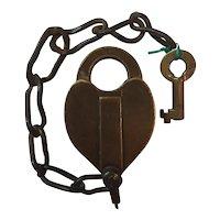 Old Colony Railroad Bohannan Brass Switch Lock & Key