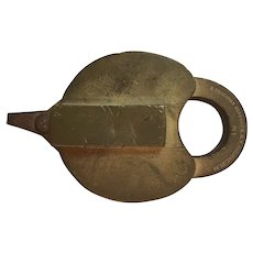 Boston & Maine Heart Shaped Brass Railroad Lock