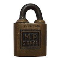 Scarce Missouri Pacific Signal Lock