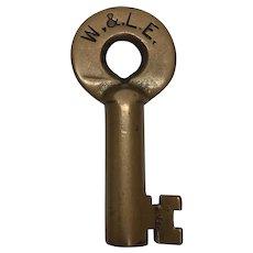 Wheeling & Lake Erie Railroad Brass Switch Key