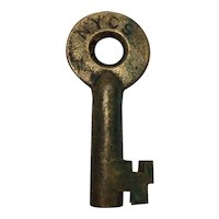 New York Central System Railroad Brass Switch Key