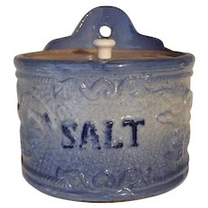 Blue & White Eagle Stoneware Salt Cellar