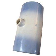 Logan Blue & White Stoneware Footwarmer