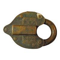 Baltimore & Ohio Brass Heart Shaped Lock & Key