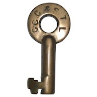 Big Four CCC&St.L Railroad Switch Key