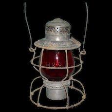 CM&StP Handlan Lantern with Etched Globe