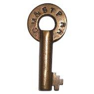 Chicago,Milwaukee & St. Paul Railroad Baggage Cellar Key(CM&STP RR-BCC)