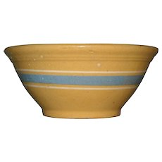 "Yelloware Blue & White Stripped 10"" Bowl"