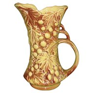 McCoy Grapes & Leaves Pitcher Vase