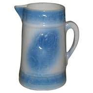 American Beauty Rose Blue & White Pitcher