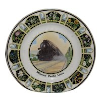 Missouri Pacific State Flowers Services Plate
