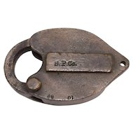 Southern Pacific Company 1889 Car Lock