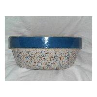 Western Blue Band Sponge Bowl