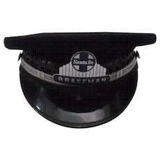 Santa Fe Brakeman's Cap & Badge-Excellent