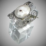 Vintage Sterling Mother of Pearl Ring