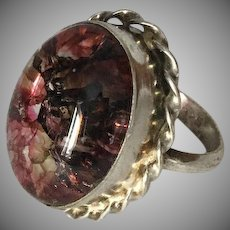 Beautiful Sterling Silver Ring with Pink Stone