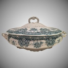 Antique Blue and White Vegetable Server