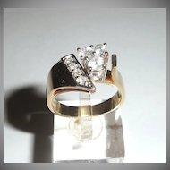 14K Gold and Diamond Lady's Ring Distinct Design