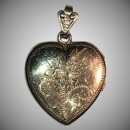 Vintage Gold-Filled Heart Locket Pendant