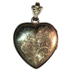 Vintage Gold-Filled Heart Locket Pendant