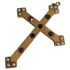 Large Jeweled Cross Pendant
