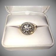 Man's 10K Stunning Gold Diamond Ring Valued at $1200