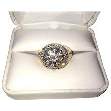 Man's 10K Stunning Gold Diamond Ring