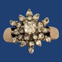 10K Multi-Diamond Gold Ring