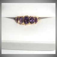 14-Karat Gold and Amethyst Ring