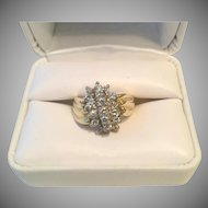 18K Gold  and Diamond Ring - Fabulous!