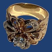 14K Diamond Ring Distinct Design