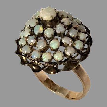 Opal Cluster 14K Gold Ring