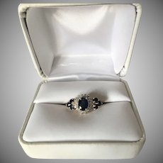 Sapphires and Diamonds 18K Gold Ring