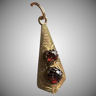 Gold and Garnet Pendant