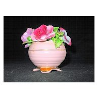 Adorable Bone China Pink Flower Pot by Radnor