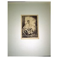 Algerian Spahi in a Cellar is an etching by Charles Huard