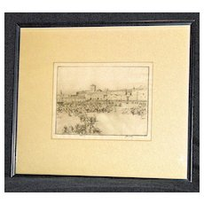 El Soko (The Market Place) an etching by James McBey; 1912