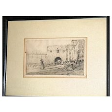 The Story Teller an etching by James McBey; 1912